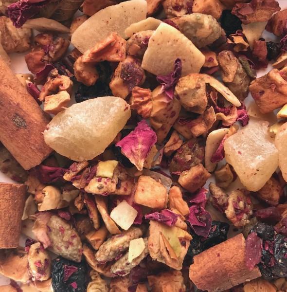 Zimt geröstete Mandel, Frucht Tee, Früchte, Teehaus Taucha